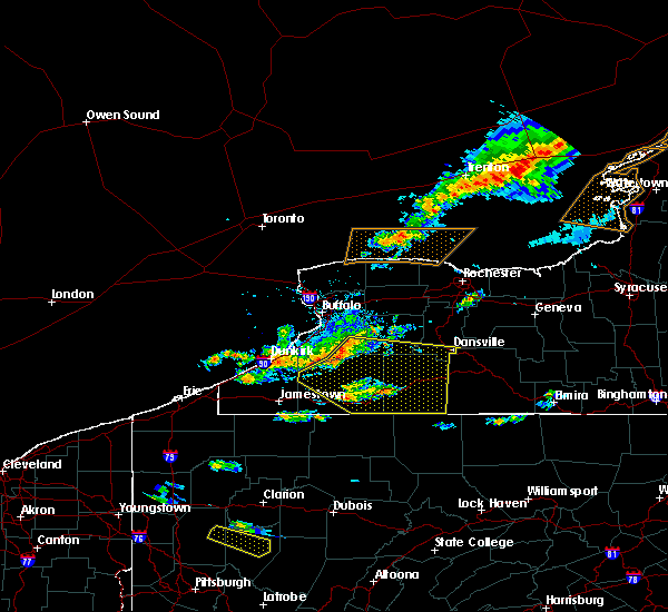 Radar Image for Severe Thunderstorms near Salamanca, NY at 6/13/2018 5:56 PM EDT