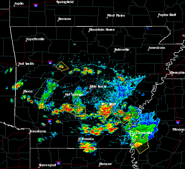 Radar Image for Severe Thunderstorms near Watson, AR at 6/13/2018 5:05 PM CDT