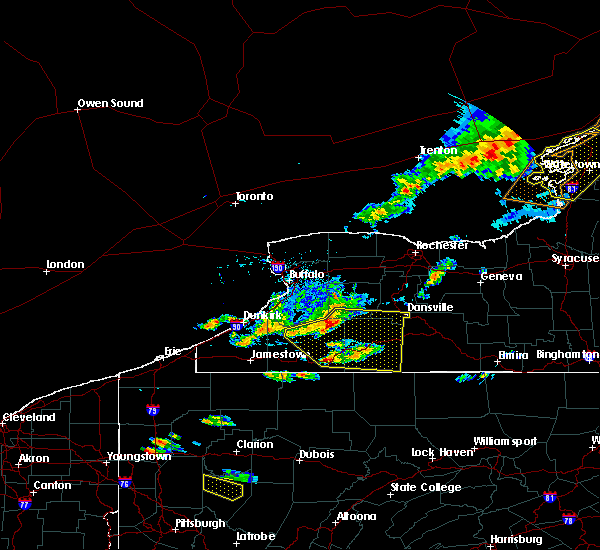 Radar Image for Severe Thunderstorms near Stannards, NY at 6/13/2018 6:05 PM EDT