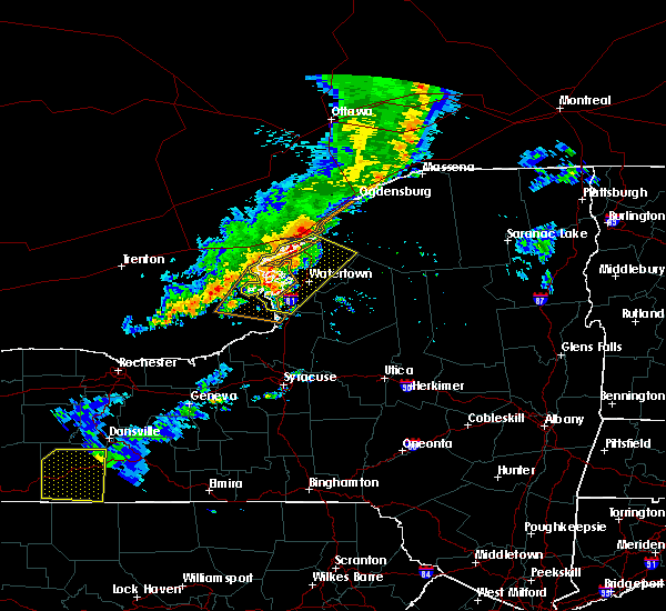 Radar Image for Severe Thunderstorms near Morristown, NY at 6/13/2018 6:39 PM EDT