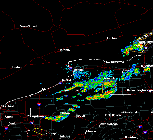 Radar Image for Severe Thunderstorms near Scio, NY at 6/13/2018 6:55 PM EDT