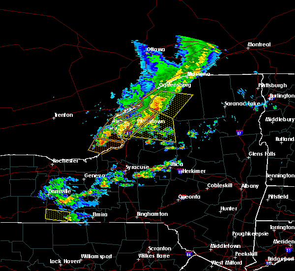 Radar Image for Severe Thunderstorms near Heuvelton, NY at 6/13/2018 7:11 PM EDT