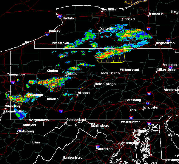 Radar Image for Severe Thunderstorms near Smicksburg, PA at 6/13/2018 7:41 PM EDT