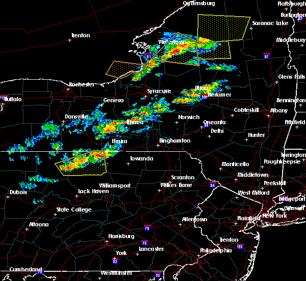 Radar Image for Severe Thunderstorms near Alba, PA at 6/13/2018 7:44 PM EDT