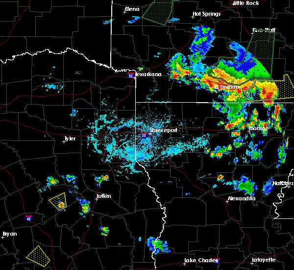 Radar Image for Severe Thunderstorms near Crockett, TX at 6/13/2018 6:54 PM CDT