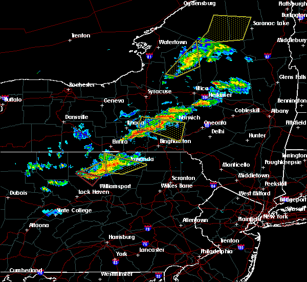 Radar Image for Severe Thunderstorms near Endicott, NY at 6/13/2018 8:15 PM EDT