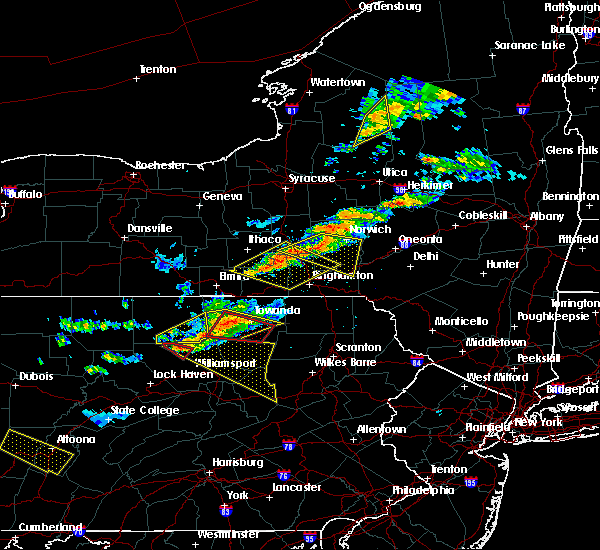 Radar Image for Severe Thunderstorms near New Columbus, PA at 6/13/2018 8:25 PM EDT