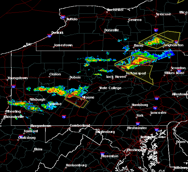 Radar Image for Severe Thunderstorms near Hastings, PA at 6/13/2018 8:31 PM EDT