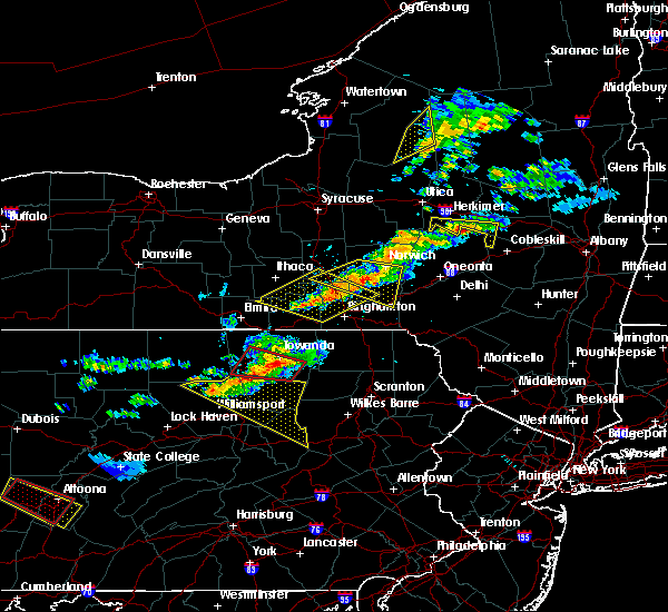 Radar Image for Severe Thunderstorms near Wyalusing, PA at 6/13/2018 8:34 PM EDT