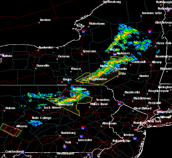 Radar Image for Severe Thunderstorms near Endicott, NY at 6/13/2018 8:49 PM EDT