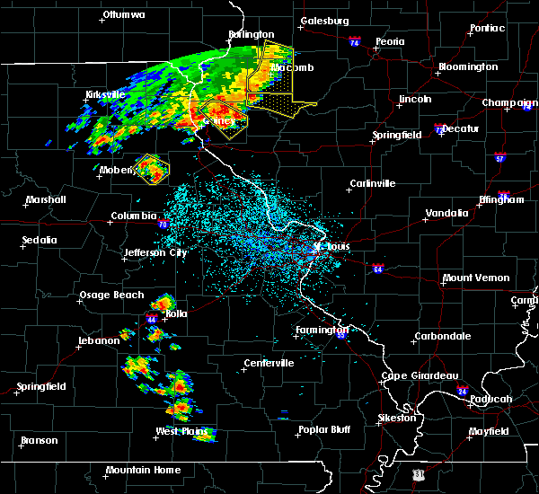 Radar Image for Severe Thunderstorms near Stoutsville, MO at 6/14/2018 1:59 PM CDT