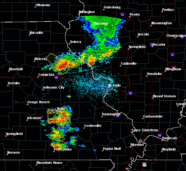 Radar Image for Severe Thunderstorms near Rolla, MO at 6/14/2018 3:30 PM CDT
