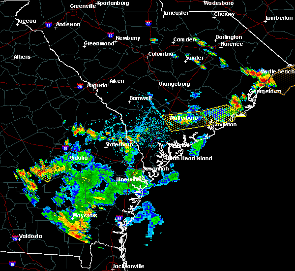 Radar Image for Severe Thunderstorms near North Charleston, SC at 6/14/2018 5:27 PM EDT