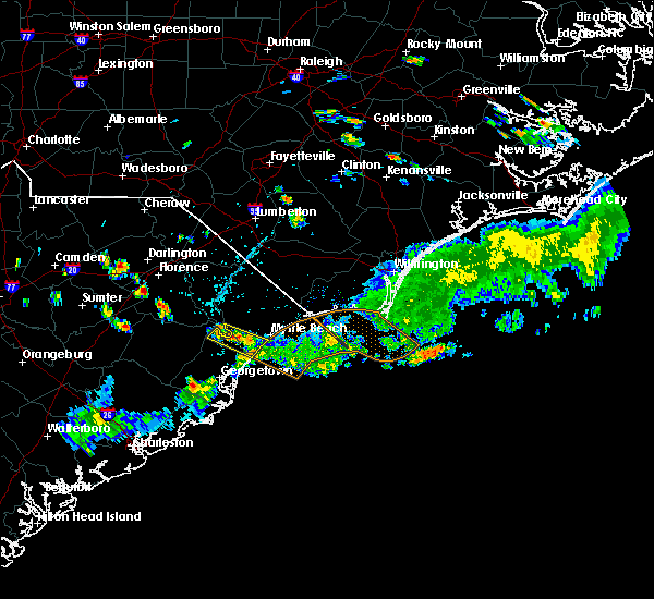 Radar Image for Severe Thunderstorms near Pawleys Island, SC at 6/14/2018 5:43 PM EDT