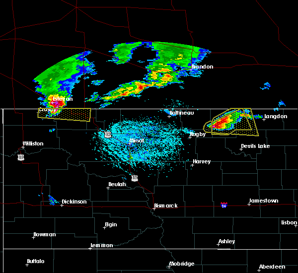 Radar Image for Severe Thunderstorms near Hannah, ND at 6/14/2018 5:01 PM CDT