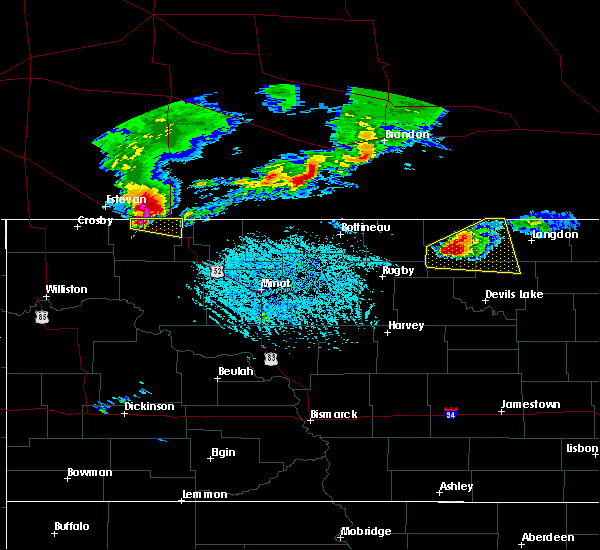 Radar Image for Severe Thunderstorms near Portal, ND at 6/14/2018 5:22 PM CDT