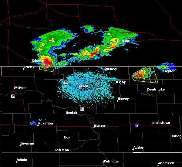 Radar Image for Severe Thunderstorms near Hannah, ND at 6/14/2018 5:26 PM CDT