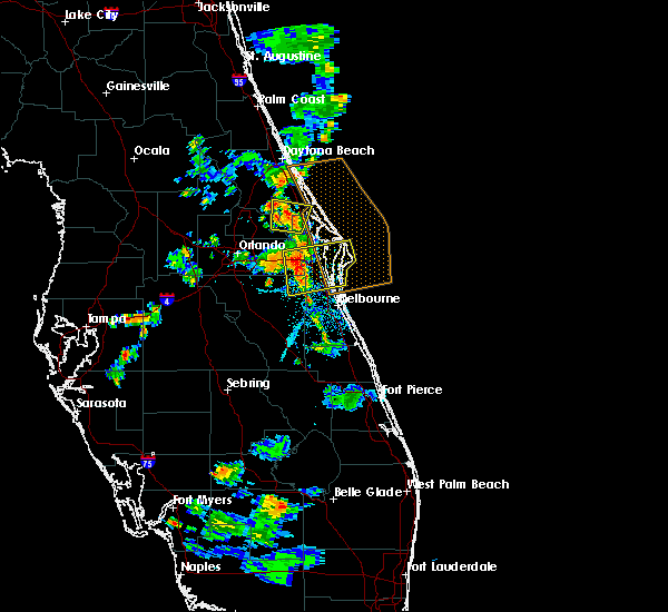 Radar Image for Severe Thunderstorms near Cocoa West, FL at 6/14/2018 7:24 PM EDT