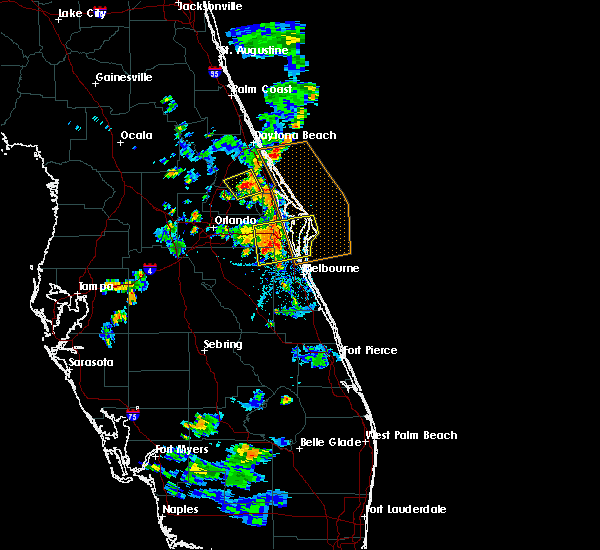Radar Image for Severe Thunderstorms near Black Hammock, FL at 6/14/2018 7:33 PM EDT