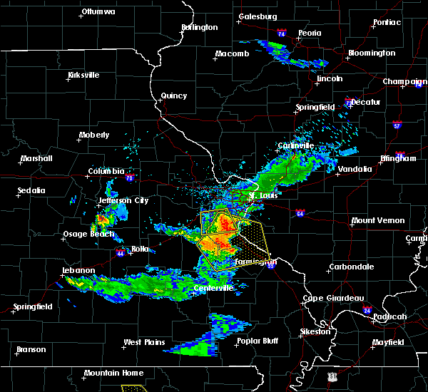 Radar Image for Severe Thunderstorms near Irondale, MO at 6/14/2018 6:45 PM CDT