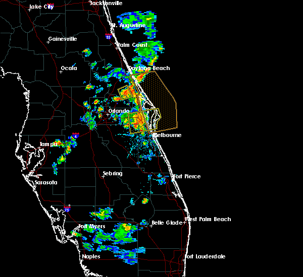 Radar Image for Severe Thunderstorms near Merritt Island, FL at 6/14/2018 7:49 PM EDT
