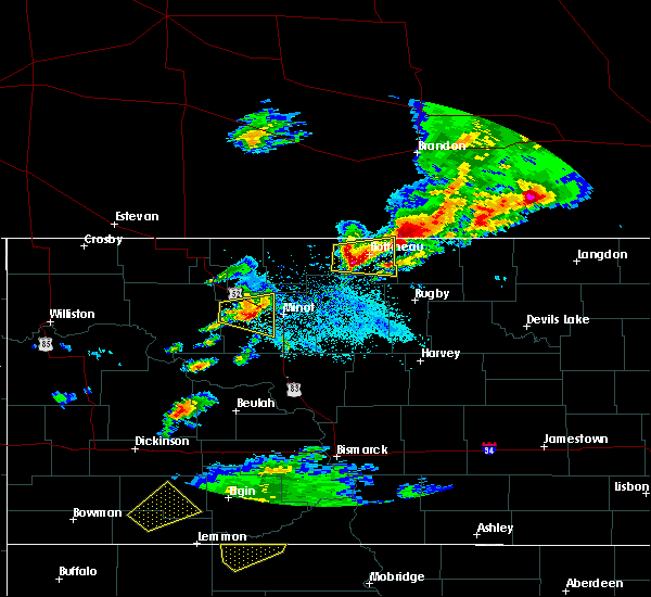 Radar Image for Severe Thunderstorms near Shell Valley, ND at 6/14/2018 8:14 PM CDT