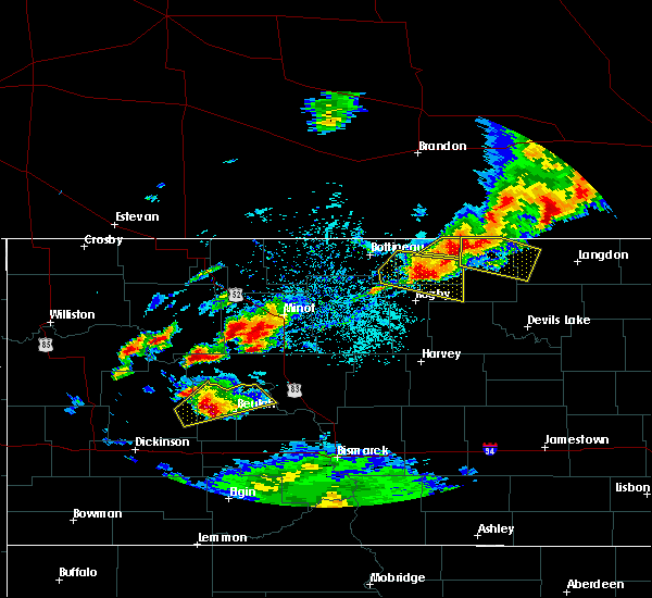 Radar Image for Severe Thunderstorms near Shell Valley, ND at 6/14/2018 9:06 PM CDT