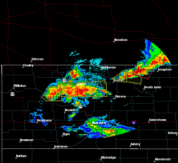 Radar Image for Severe Thunderstorms near Surrey, ND at 6/14/2018 10:02 PM CDT