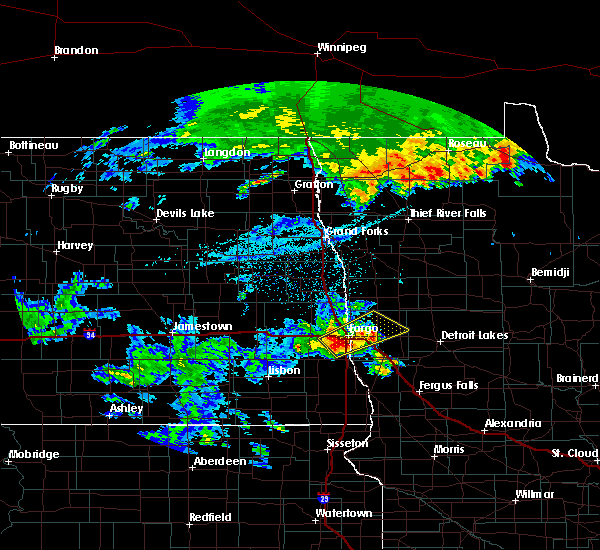 Radar Image for Severe Thunderstorms near Glyndon, MN at 6/15/2018 1:59 AM CDT