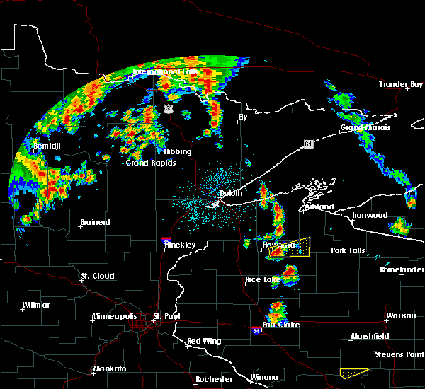 Radar Image for Severe Thunderstorms near Clam Lake, WI at 6/15/2018 3:47 AM CDT