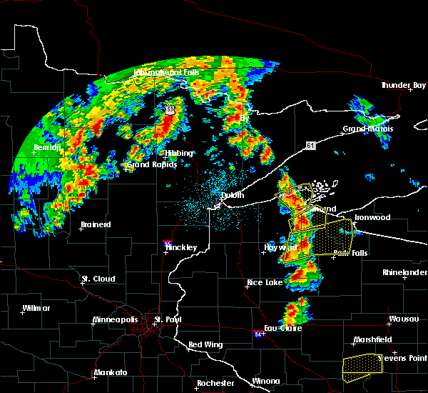 Radar Image for Severe Thunderstorms near Clam Lake, WI at 6/15/2018 4:18 AM CDT