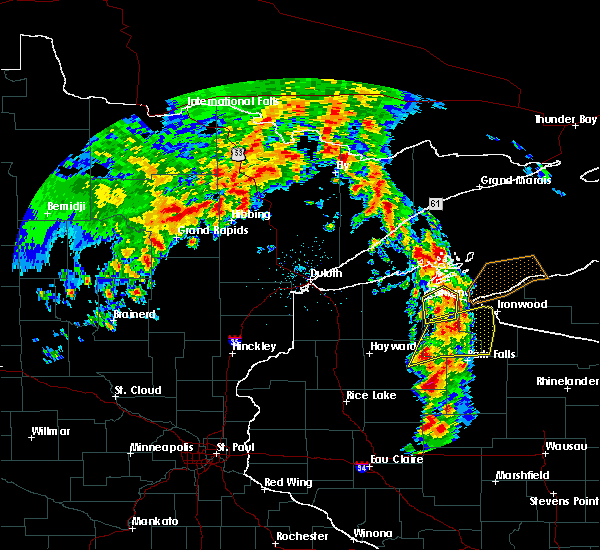 Radar Image for Severe Thunderstorms near Clam Lake, WI at 6/15/2018 4:45 AM CDT