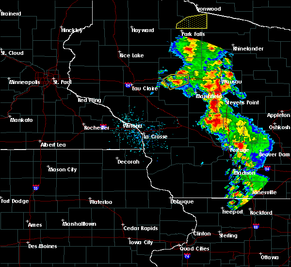 Radar Image for Severe Thunderstorms near Unity, WI at 6/15/2018 6:03 AM CDT