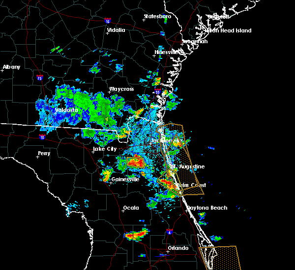 Radar Image for Severe Thunderstorms near Flagler Estates, FL at 6/15/2018 6:00 PM EDT