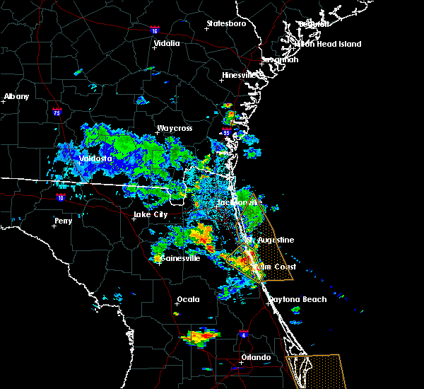 Radar Image for Severe Thunderstorms near Palm Coast, FL at 6/15/2018 6:17 PM EDT