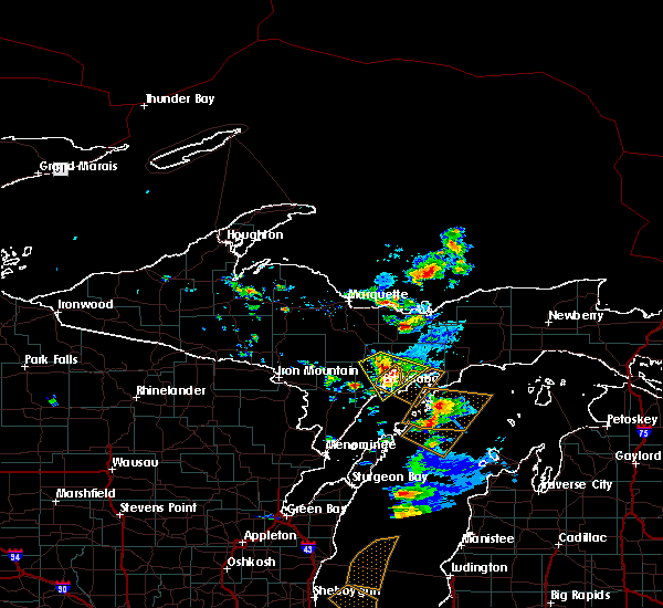 Radar Image for Severe Thunderstorms near Escanaba, MI at 6/16/2018 8:35 AM EDT