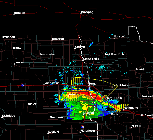 Radar Image for Severe Thunderstorms near Glyndon, MN at 6/16/2018 8:27 AM CDT