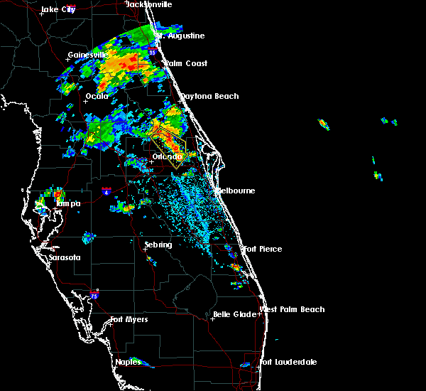 Radar Image for Severe Thunderstorms near Christmas, FL at 6/16/2018 4:45 PM EDT