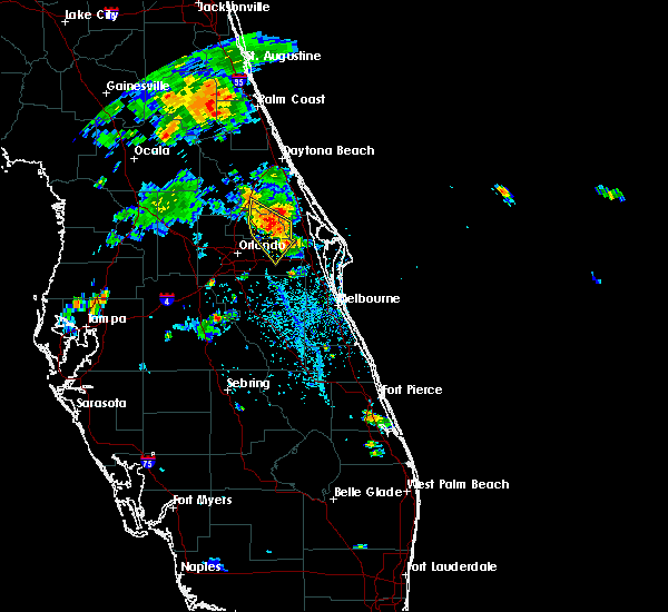 Radar Image for Severe Thunderstorms near Christmas, FL at 6/16/2018 5:03 PM EDT