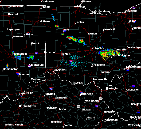 Radar Image for Severe Thunderstorms near Junction City, OH at 6/16/2018 8:39 PM EDT