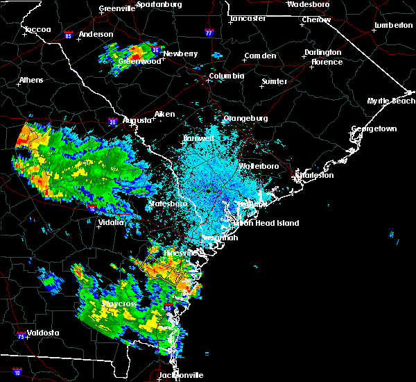 Radar Image for Severe Thunderstorms near Ludowici, GA at 6/16/2018 9:20 PM EDT