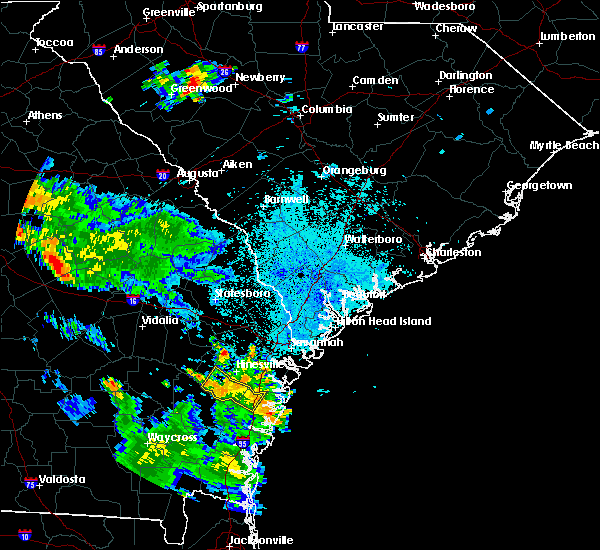 Radar Image for Severe Thunderstorms near Ludowici, GA at 6/16/2018 9:29 PM EDT