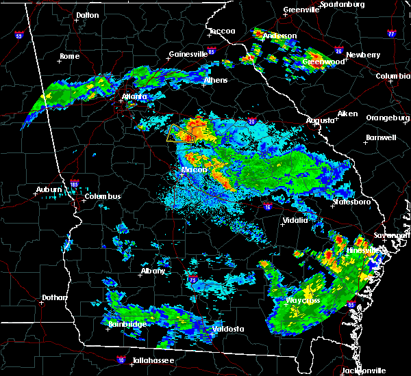 Radar Image for Severe Thunderstorms near Monticello, GA at 6/16/2018 9:43 PM EDT