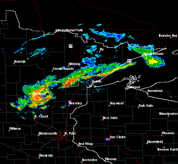 Radar Image for Severe Thunderstorms near Deerwood, MN at 6/17/2018 1:25 PM CDT