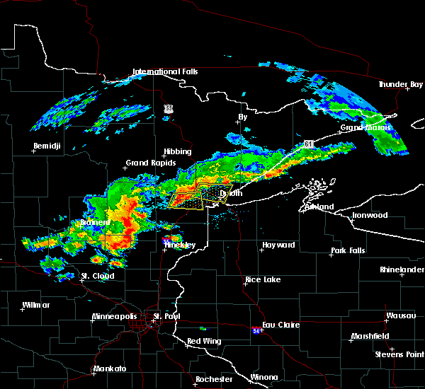 Radar Image for Severe Thunderstorms near Duluth, MN at 6/17/2018 1:56 PM CDT