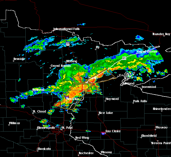Radar Image for Severe Thunderstorms near Esko, MN at 6/17/2018 2:56 PM CDT