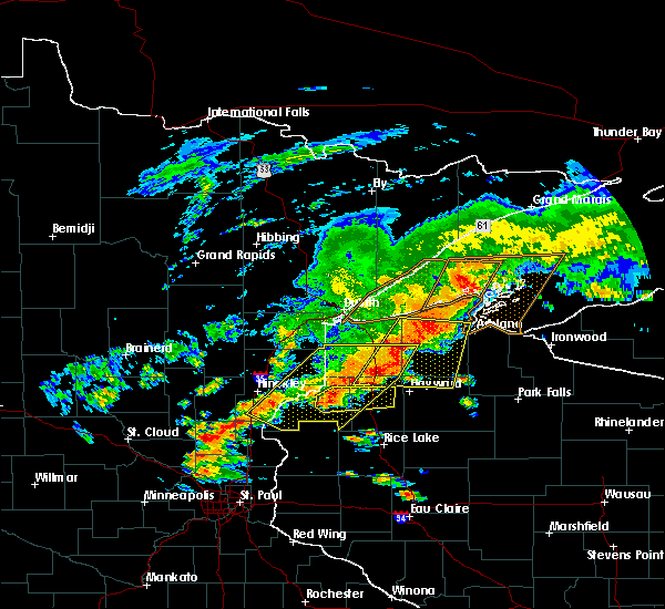 Radar Image for Severe Thunderstorms near Spooner, WI at 6/17/2018 3:45 PM CDT