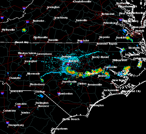 Radar Image for Severe Thunderstorms near Princeton, NC at 6/17/2018 4:54 PM EDT