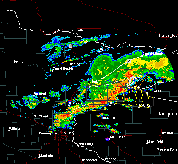 Radar Image for Severe Thunderstorms near Clam Lake, WI at 6/17/2018 4:03 PM CDT