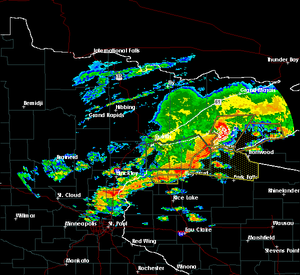 Radar Image for Severe Thunderstorms near Clam Lake, WI at 6/17/2018 4:08 PM CDT